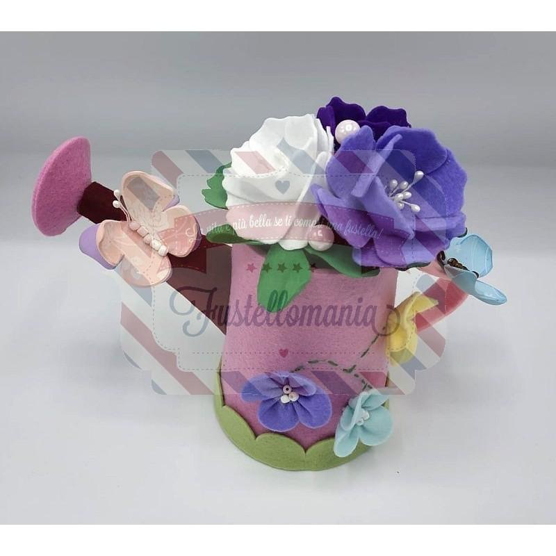 Fustella doppia XL Kit Annaffiatoio erba fiori e farfalla
